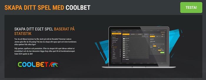 Nu kan du skapa egna oddsspel hos Coolbet