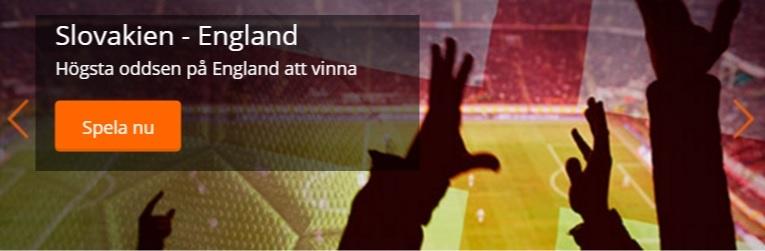 Odds och Tips på Slovakien - England i EM 2016